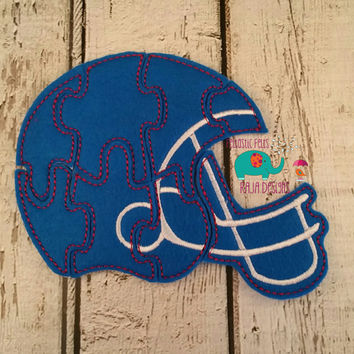 Felt helmet puzzle embroidered embroidery, jigsaw puzzle, learning toy, activity, quiet game, kids toys, montessori, homeschool, busy book