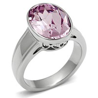 Cesina Pink Stone Silver Ring