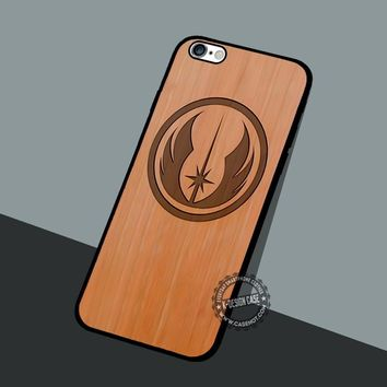 Star Wars Jedi Wooden - iPhone 7 6 5 SE Cases & Covers #movie #StarWars
