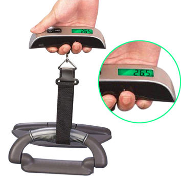 LS4G Hot Sale Digital Electronic Portable 50kg/10g Hanging Electronic Digital Travel Suitcase Luggage Scales