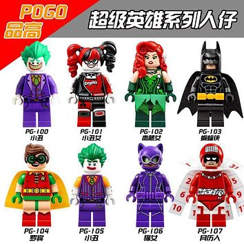 Batman Dark Knight gift Christmas Super Heroes Joker Catwoman Robin Poison Ivy Harley Quinn Calendar Man Batman Movie Building Blocks Children Gift Toys PG8032 AT_71_6