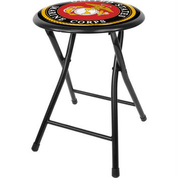 United States Marine Corps 18 Inch Folding Stool - Black