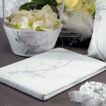Love Bird in Classic White Guest Book (Pack of 1)