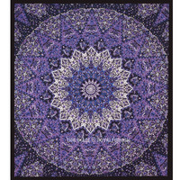 Colorful 3 D Star Mandala Tapestry, College Dorm Psychedelic Hippie Wall Hanging Bedding on RoyalFurnish.com