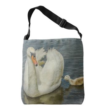 Mother Swan And Baby Tote Bag