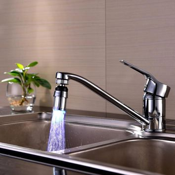 Color Change Water Stream Shower LED Faucet Taps
