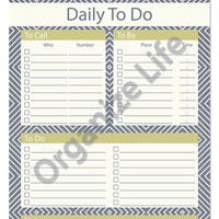 Daily To Do List - Printable PDF