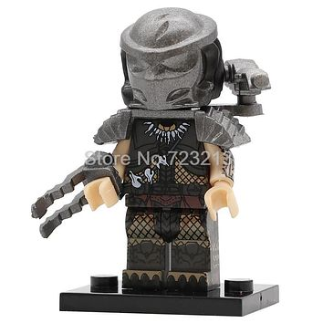 Single Sale Predator Figure Movie Godzilla Alien Building Blocks Set Model Kits Bricks Educational Toy for Children PG1127