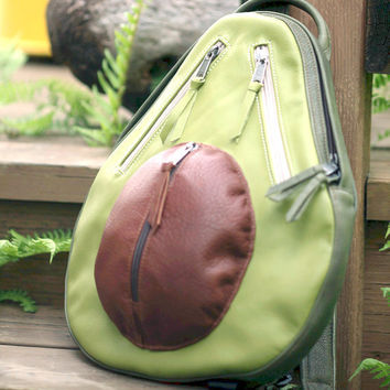 $245.00 Leather Avocado Backpack by AveryStudio on Etsy