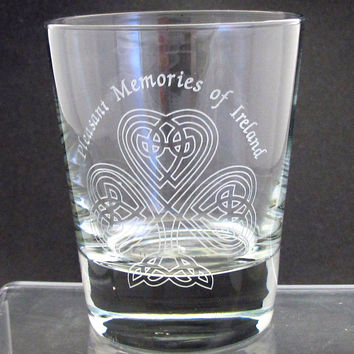 celtic / shamrock DOR glass 13 oz, St Patricks day gift, Ireland