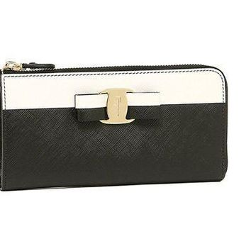 PEAPGQ6 Salvatore Ferragamo Vara Bow Zip-Around Wallet