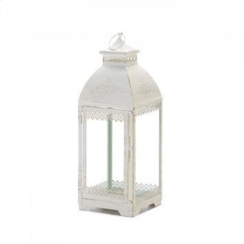 Large White Lace Victorian Style Lantern