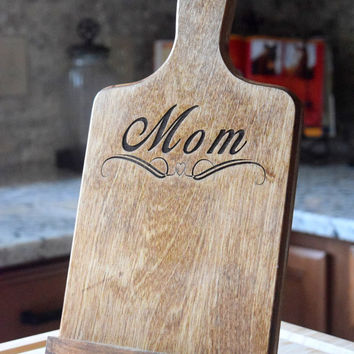 Personalized Tablet Holder - Tablet Stand - Wooden Tablet Stand - Cookbook Holder - IPad Holder - Mothers Day Gift - Gift - Christmas Gift