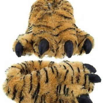 "Wishpets 12"" Furry Bengal Tiger Slippers Plush Toy"