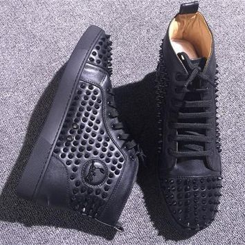 Cl Christian Louboutin Louis Spikes Style #1888 Sneakers Fashion Shoes - Best Deal Online