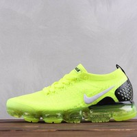 HCXX Nike Air Vapormax Moc 2.0 Flyknit Running Shoes Flourescence Green