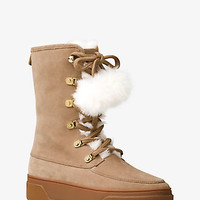 Juno Suede and Fur Boot | Michael Kors
