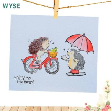 Hedgehog Clear Stamps Clear Rubber Stamp Silicone Transparent stamp for Scrapbooking DIY paper card making Decoration