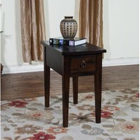 Sunny Designs 3176DC-CS Santa Fe Chair Side Table In Dark Chocolate