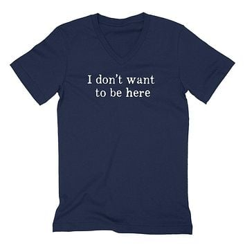 Introvert, funny saying, I don't want to be here, introverting, workout graphic V Neck T Shirt