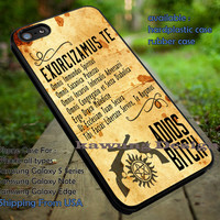Supernatural Exorcism Chant iPhone 6s 6 6s+ 5c 5s Cases Samsung Galaxy s5 s6 Edge+ NOTE 5 4 3 #movie #supernatural #superwholock #sherlock #doctorWho dt