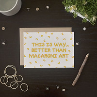Macaroni Art Card
