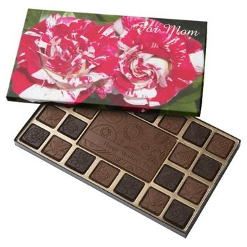 Red and White Roses Photo Mother's Day 45 Piece Box Of Chocolates