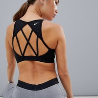 Nike Training Indy Cooling Bra In Black at asos.com