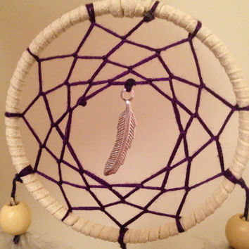 Faux Suede dream catcher with grey brown by dreampeacepositivity