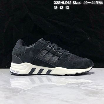 KUYOU A369 Adidas EQT RF Support 93 Suede Retro Running Shoes Black