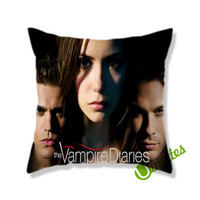 The Vampire Diaries Logo Square Pillow Cover