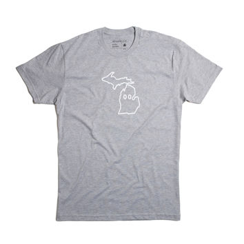 Eyes on Michigan Tee - Grey