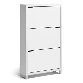 Baxton Studio Simms White Modern Shoe Cabinet Set of 1