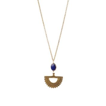 By Aqua Luna  Crescent Long Necklace