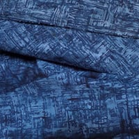 Anthology Fabrics Batik 108' Wide Backing Indigo Blue  HALF YARD (45 cm)