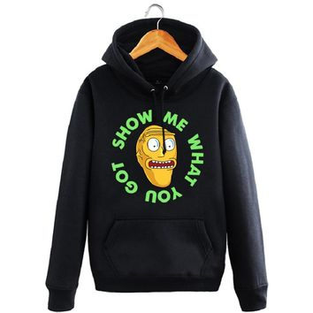 High-Q Unisex Rick and Morty Hoodies pullover jacket coat print cartoon Rick and Morty hooded Cardigan Sweatshirt coat jacket