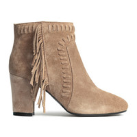 Suede Boots with Fringe - from H&M