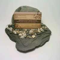 Business Card Holder- Stone, Slate, By DeerwoodCreekGifts