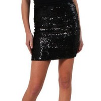 Gossip Girl Collection by Romeo & Juliet Couture Sequined Skirt in Black