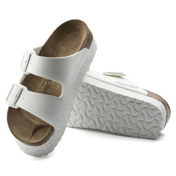 Sale Birkenstock Arizona Birko Flor Monochrome Marble White 1009050 Sandals