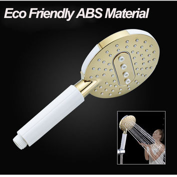 Spa Water-Saving Shower Head Multi-Functionhandheld Nozzle Abs Chrome Showerhead Hand Held For Bathroom