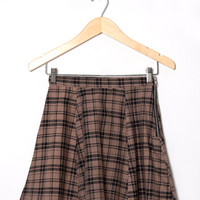 Motel Vintage Katy Check Circle Skirt 0177 SIZE M