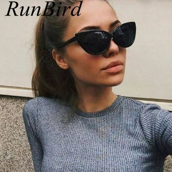 New Fashion Vintage Cat Eye Sunglasses Women Luxury Retro Sun Glasses Big Frame Brand Designer Gafas Oculos De Sol Feminino R531