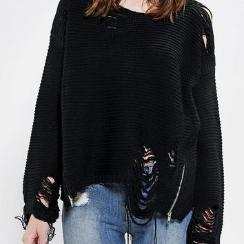 Urban Outfitters - UNIF Shredded Sweater