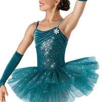 Shirred Velvet Sequin Leotard; Weissman Costumes