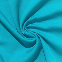 "60"" Solid Azure Blue Tencel Light Gabardine Twill Woven Fabric By The Yard"