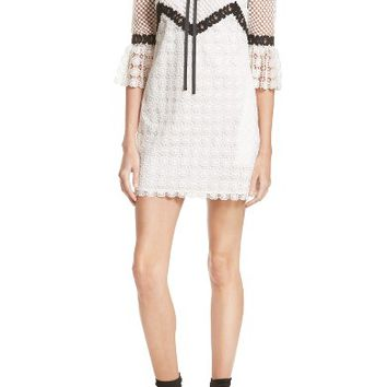 Self-Portrait Petal Monochrome Minidress | Nordstrom