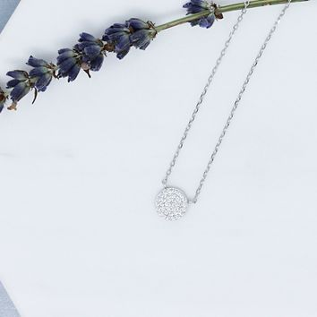 Circle of Love Pave Necklace - Small