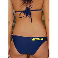 Ladies Swimwear Collegiate Surf & Sport University of Michigan Spring Breaker Bikini Bottom
