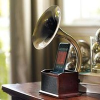 Pottery Barn Gramaphone iPod(R) Station